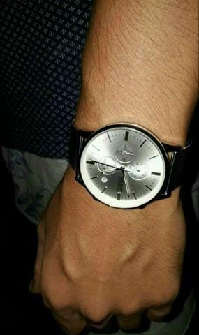 Relógio Megir Em Aço Inoxidável Prata