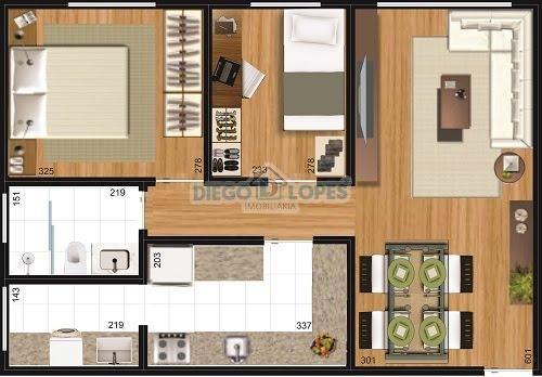Apartamento à venda com 3 dormitórios em Cidade industrial, Curitiba cod:937 - Foto 6