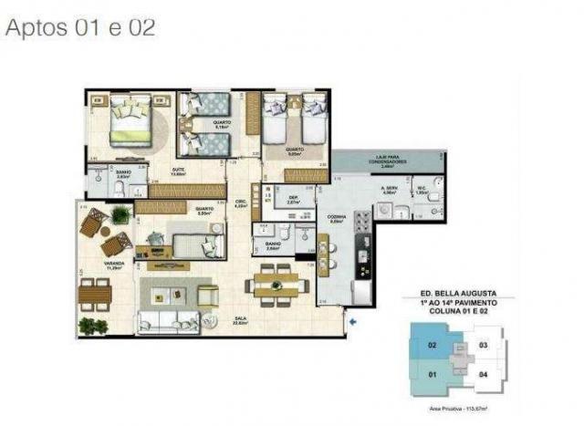 Bella Augusta Residence - Apartamento de 3 ou 4 quartos com suíte - Cariacica, ES - Foto 18