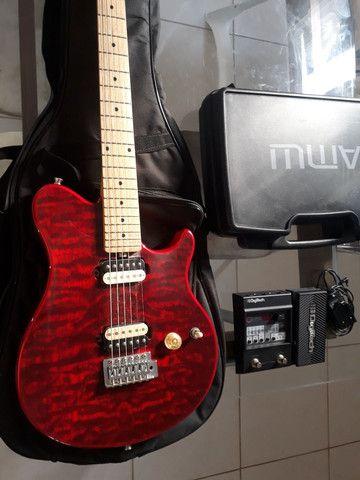 Kit guitarra mais pedaleira e transmissor  - Foto 3