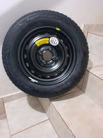 Pneu + roda Continental aro 14 - Foto 2