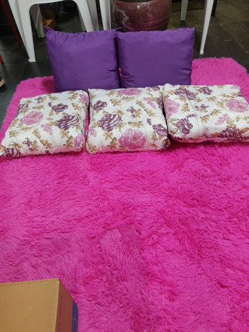 Tapete rosa para sala, 2x1.40 cm , super macio - Foto 2