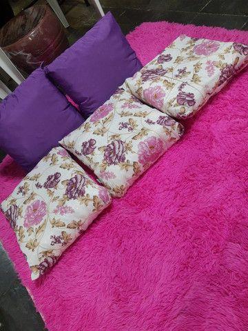 Tapete rosa para sala, 2x1.40 cm , super macio - Foto 5