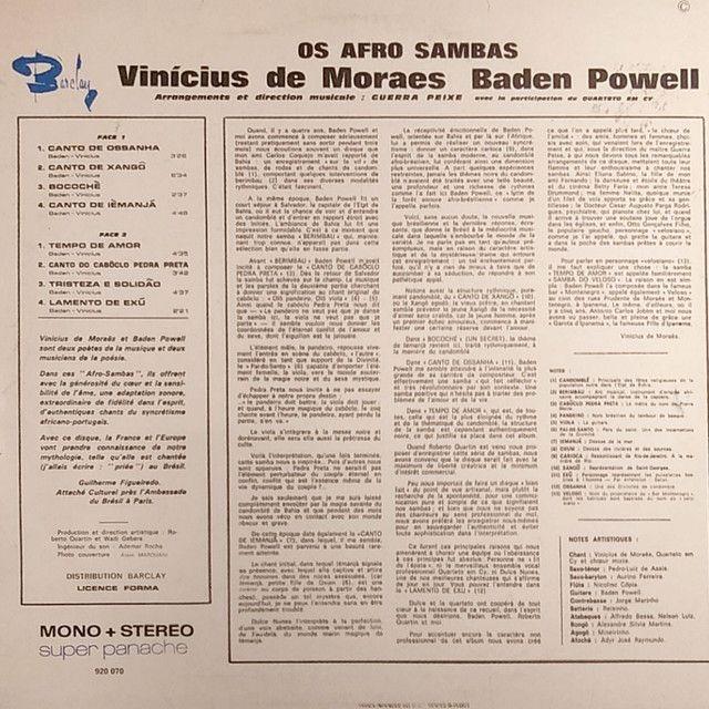 Afro-Samba Baden Powell e Vinícius de Moraes - Foto 2