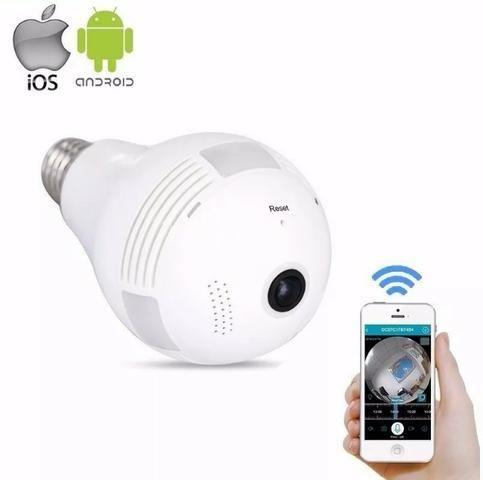 Câmera Lampada Wifi IP Hd Panorâmica Única360° Espião - Áudio, TV ... 6dc9cd5bc1