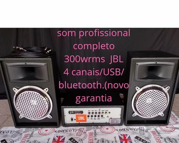 """Som profissional completo 300 WRMS JBL10"""" TITÂNIUM/USB/bluetooth (garantia e bom preço!)"""