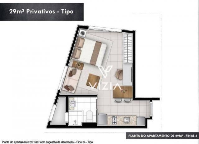 Studio com 1 dormitório à venda, 29 m² por R$ 265.000,00 - Alto da Rua XV - Curitiba/PR - Foto 6