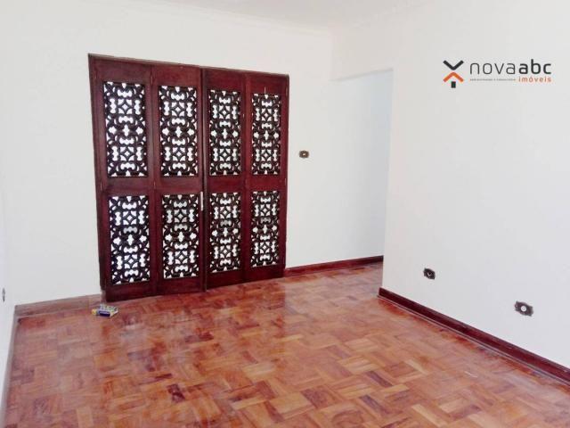 Sobrado com 4 dormitórios para alugar, 260 m² por R$ 4.500,00/mês - Vila Homero Thon - San - Foto 7
