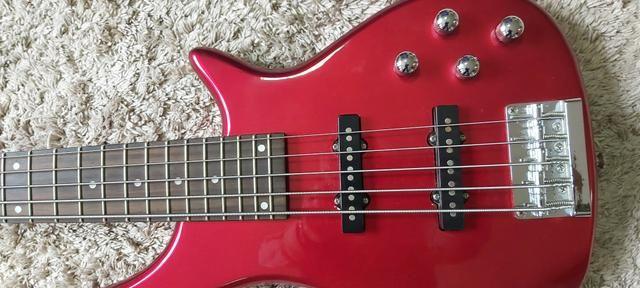 Baixo Memphis Tb-540 A Mr Vermelho 5 Cordas - Refinado - Foto 3