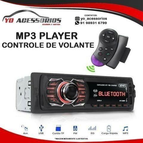 Com bluetooth Usb Radio Controle de volante