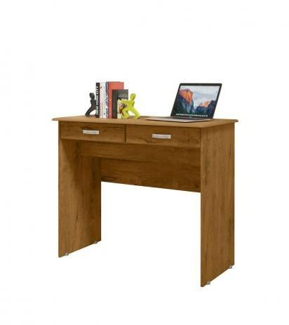 Escrivaninha Mesa Computador Quarto Escritorio Ej 2 Gavetas - Foto 5