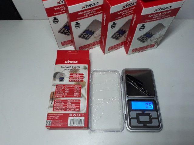 Mini Balança Digital de Bolso 0,1g até 500g Xtrad - Foto 4
