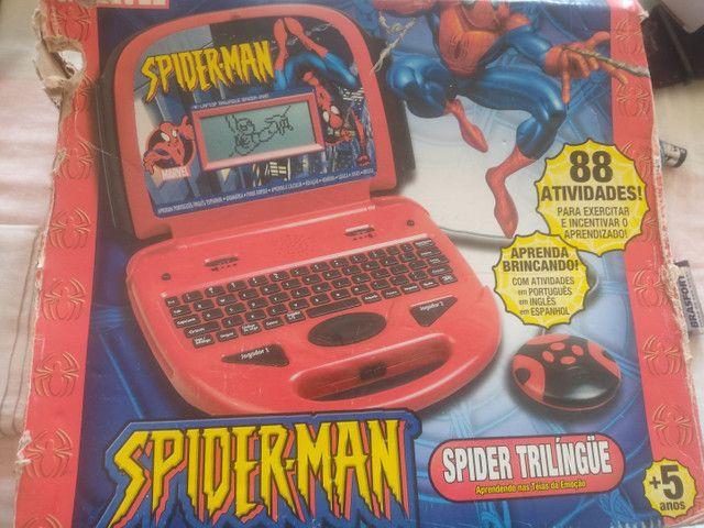 Leptop infantil Homem Aranha - Foto 3