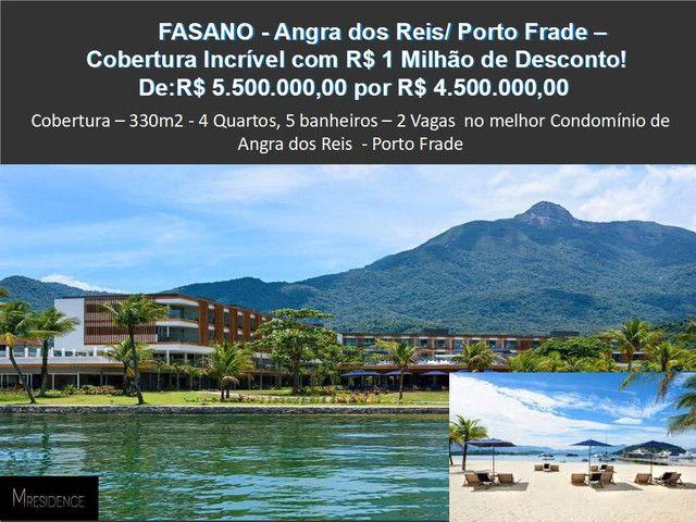 Belíssima cobertura de 5 qts com 320 m2 em Angra dos Reis, Frade - Foto 8