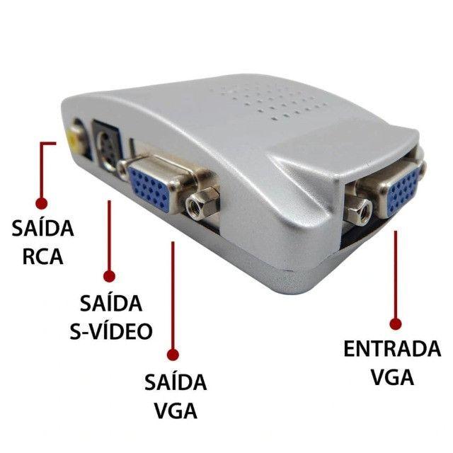 Adaptador Conversor VGA (PC) para RCA (AV) KP - 3461 - Foto 4
