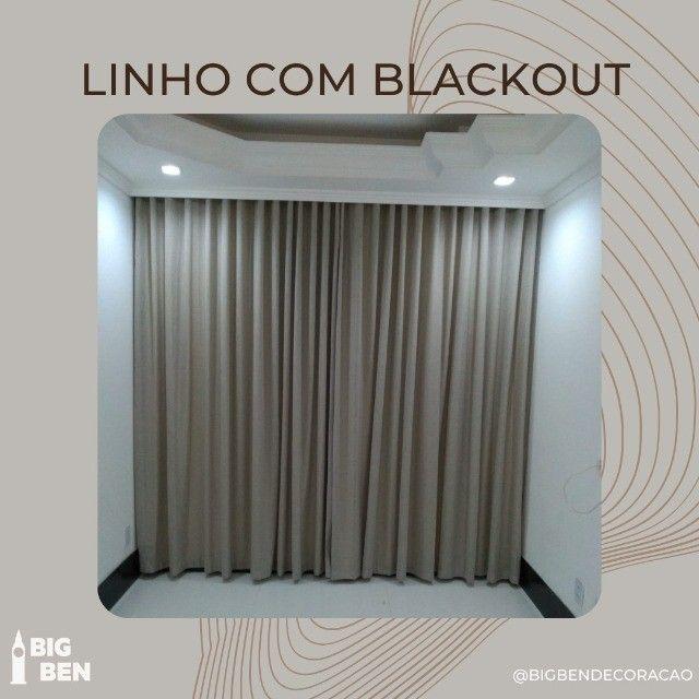 Linho com blackout