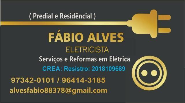 Fábio eletricista, técnico em eletrotécnica