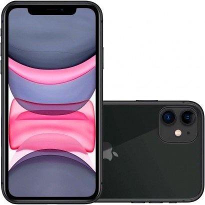 IPhone 11, preto, 128G, novinho!!! Acompanha capa e película aplicada!