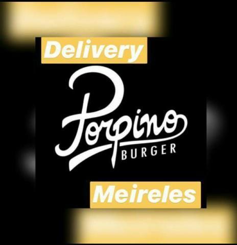 Vaga para motoboy da porpino burger