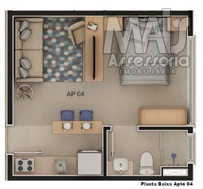 Studio para venda em novo hamburgo, centro, 1 vaga - Foto 6