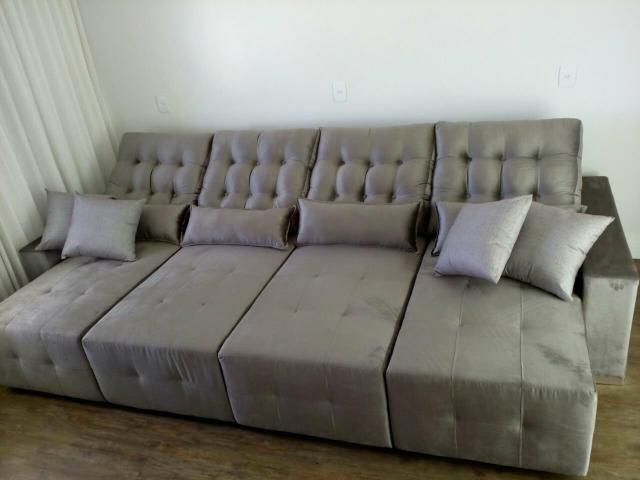 Sofá retrátil e reclinável sob medida - Foto 3