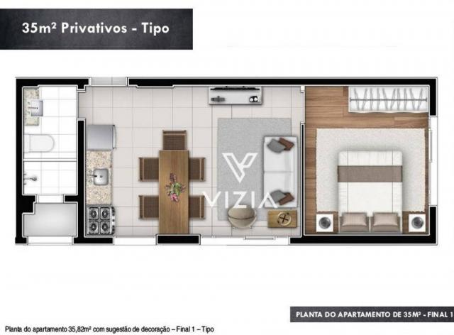 Studio com 1 dormitório à venda, 29 m² por R$ 265.000,00 - Alto da Rua XV - Curitiba/PR - Foto 12