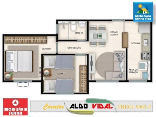 ARV 98. Apartamento dois quartos condomínio fechado balneário de Carapebus - Foto 11