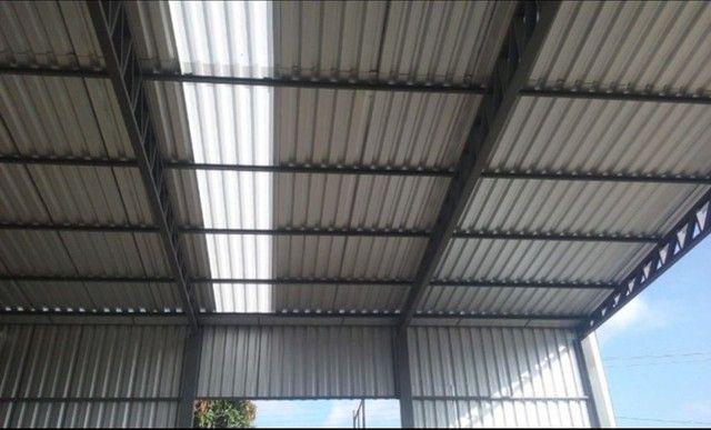 Galpões- estrutura metálica - coberturas Pergolados  - Foto 6