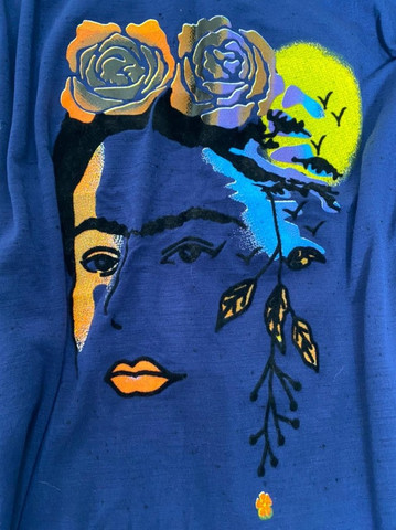 T-Shirt Frida Kahlo Azul - Foto 2