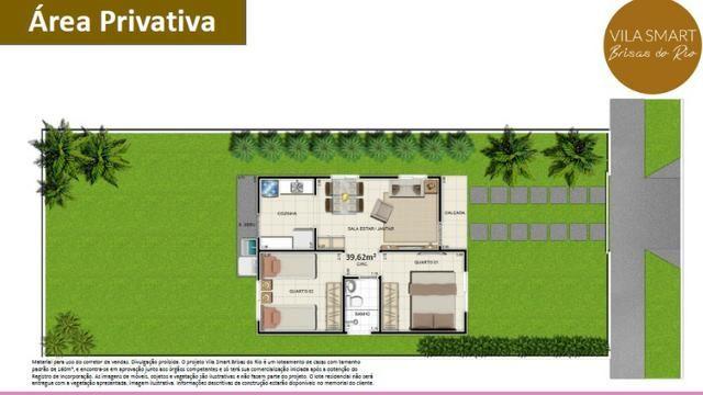 Vendo Linda Casa no Vila Smart Brisas do Rio 02 quartos com 39,62m2 - Foto 8