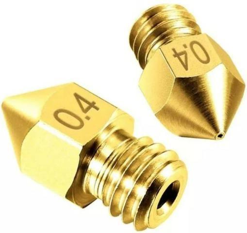 COD-CP200 Kit 2Unid. Bico Nozzle 1.75mm 0.4mm Mk7 Mk8 Hotend Impressora Reprap 3d Arduino