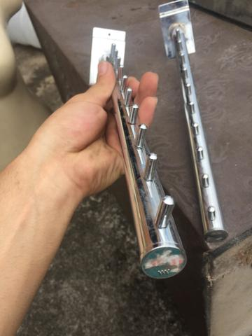 Araras cabideiro de aço inoxidável