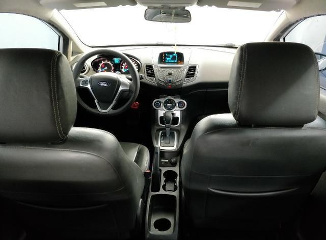 Fiesta 1.6 automático power shift 2014. Completo banco de couro,rodas e ar digital - Foto 7