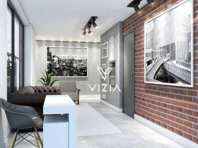 Studio com 1 dormitório à venda, 29 m² por R$ 265.000,00 - Alto da Rua XV - Curitiba/PR - Foto 3