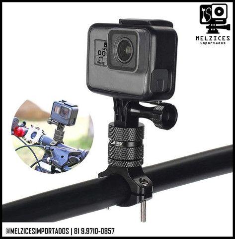 Suporte de Guidão 360° Em Alumínio Para GoPro E Similares - Foto 3