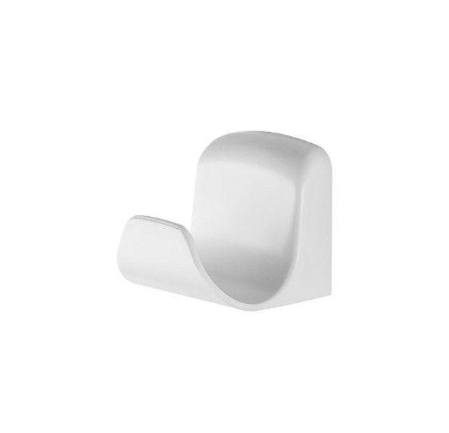 Gancho Plástico Banheiro 6 Peças, Pincéis Atlas, Branco