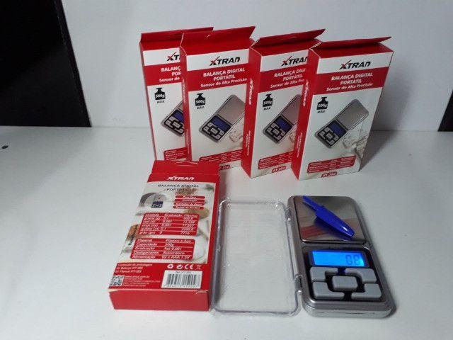 Mini Balança Digital de Bolso 0,1g até 500g Xtrad - Foto 2