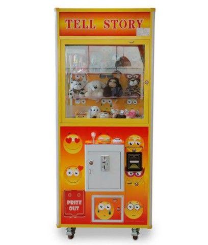 Máquina de diversão Grua para pegar bichos de pelúcia Modelo Emoticon Fácil Tec