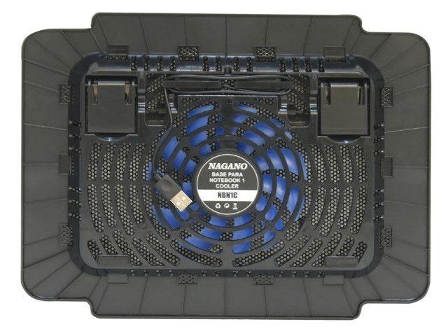 """Suporte Notebook Cooler Base Com Ventilação Apoio Mesa Usb De 9 A 15"""" polegadas - Foto 5"""