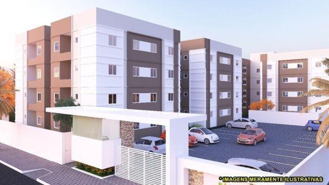 Apartamento com area de lazer, documentação gratis e varanda