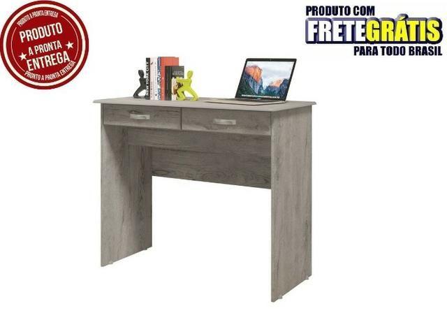 Escrivaninha Mesa Computador Quarto Escritorio Ej 2 Gavetas - Foto 4