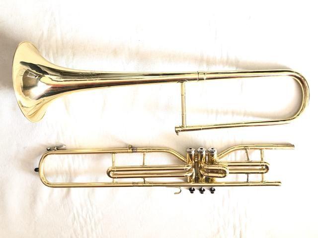 Trombone Weril em dó filé lindo. - Foto 3