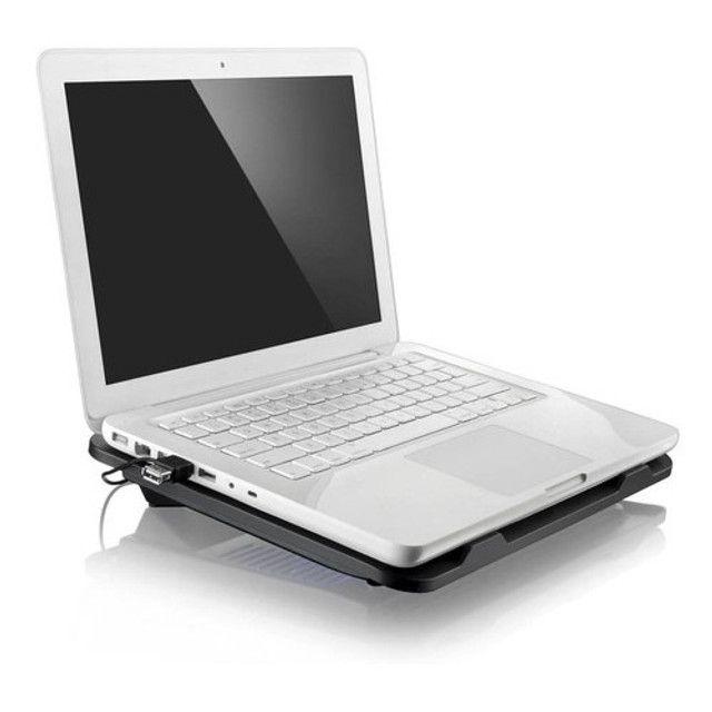 """Suporte Notebook Cooler Base Com Ventilação Apoio Mesa Usb De 9 A 15"""" polegadas - Foto 6"""