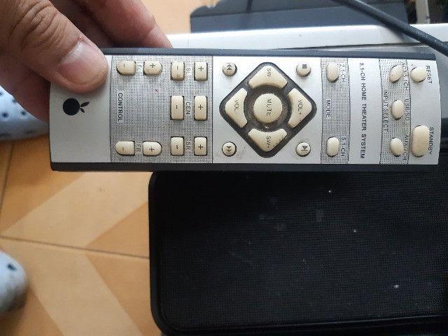 Home theather 5.1ch da orange/xenta 125watts rms usb sd card controle - Foto 5