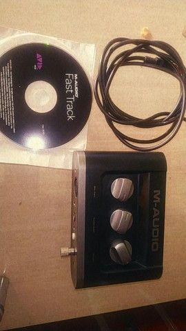 Interface de áudio M-áudio  - Foto 4