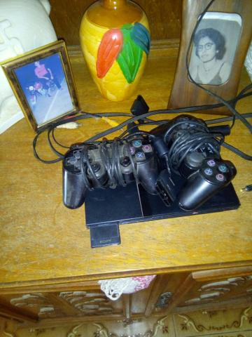 Playstation 2 2controles e memoricard