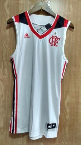 Camisa Adidas Flamengo Basquete Branca, Original. Tamanho M