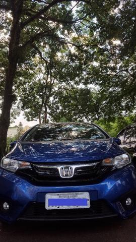Honda Fit Azul Oceano Banco em Couro -excelente estado!