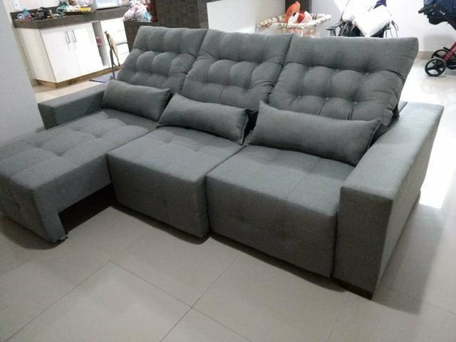 Sofá retrátil e reclinável sob medida - Foto 5