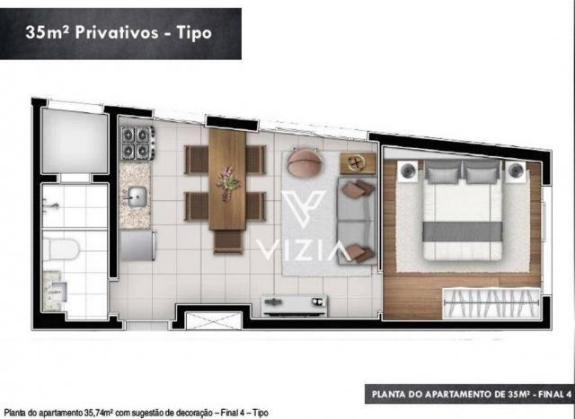 Studio com 1 dormitório à venda, 29 m² por R$ 265.000,00 - Alto da Rua XV - Curitiba/PR - Foto 15